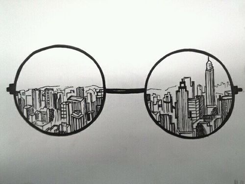 Drawn glasses scenery Pin this more Best on
