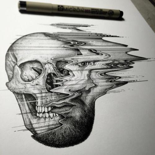 Drawn glitch And Pinterest about Tattoo Tattoo