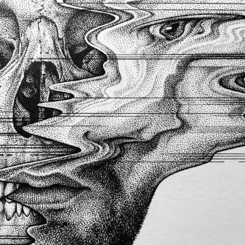 Drawn glitch #glitchart Jackson #art #skull #artist