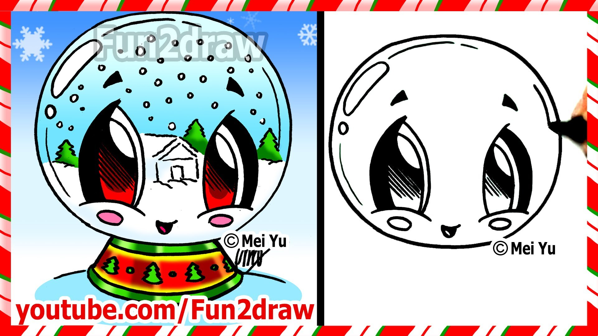 Drawn puppy fun christmas Globe Snow Christmas to to