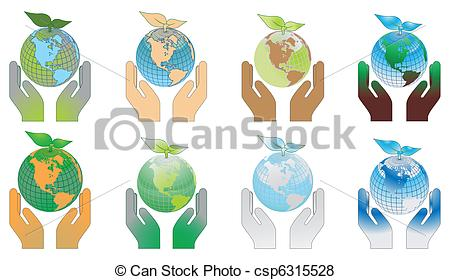 Drawn globe Hand  holding vector earth