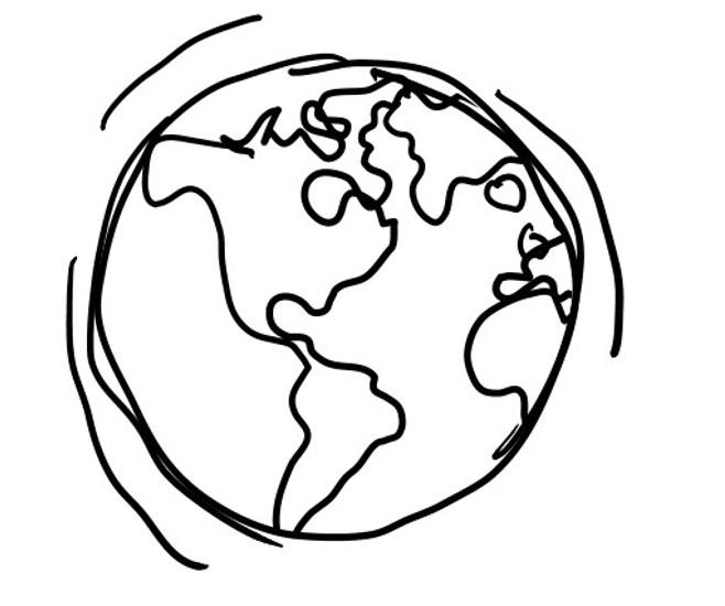 Drawn globe sketched Panda Clipart globe%20drawing Drawing Free