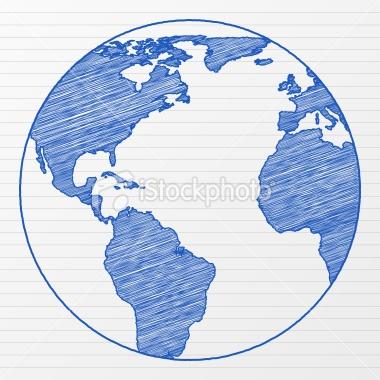 Drawn globe sketched Sketch best globe 20 Effect