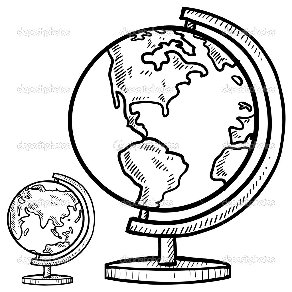 Drawn globe sketched — yourself  yourself ©