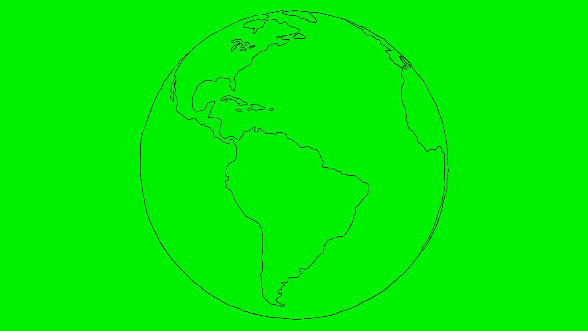 Drawn globe 72 hand animation paper globe