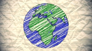 Drawn globe small Animation hand animation drawn Earth