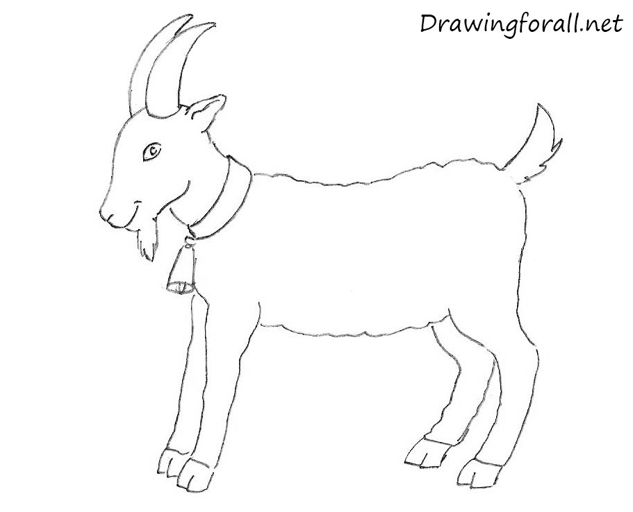 Drawn goat DrawingForAll How a for kids