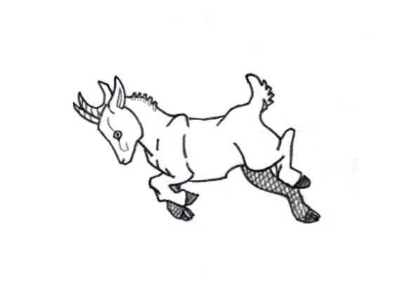 Drawn goat baby goat Tattoo  Pinterest Tattoo Kid