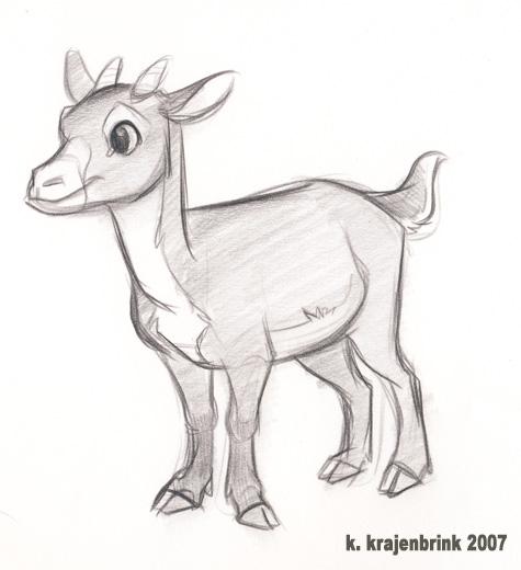 Drawn goat baby goat Drawing Drawing Baby Goat Baby