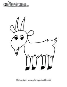 Drawn goat craft Goat draw page Drawings How