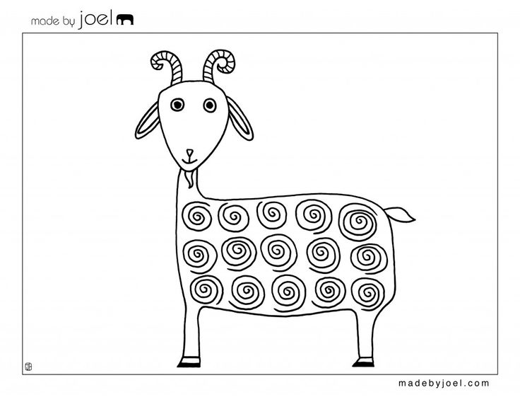 Drawn goat craft Made for Free on Joel: