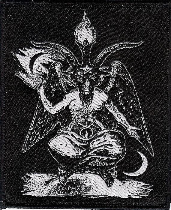 Drawn goat eliphas levi Sew on Pagan Goat on
