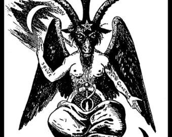 Drawn goat eliphas levi Sabbat levi Sticker Goat Satan