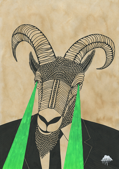 Drawn goat eye Artist the Goatee moore the