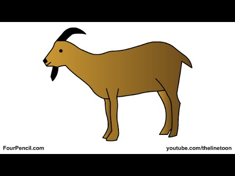 Drawn goat for kid step by step animal Draw for drawing How 011