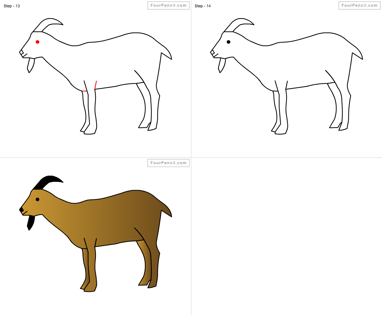 Drawn goat for kid step by step animal How Goat  draw for