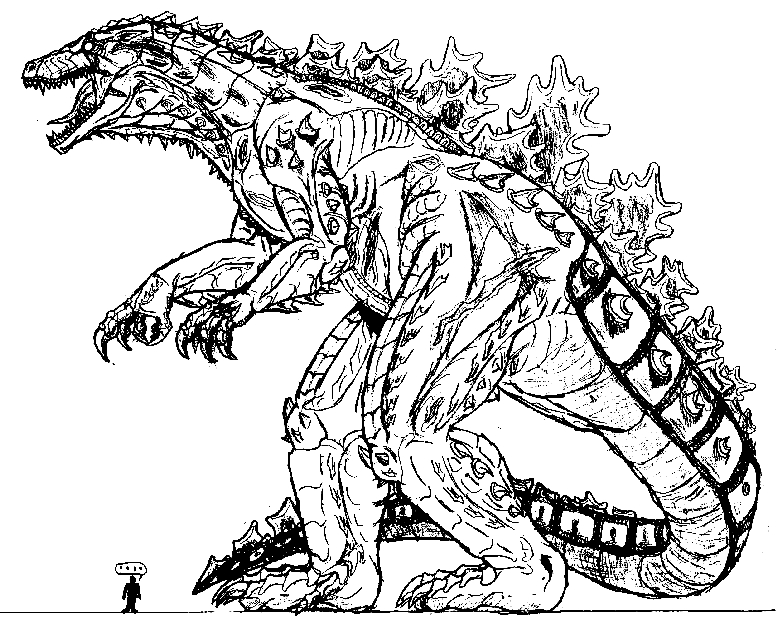 Drawn godzilla DeviantArt Godzilla GODZILLA on Deadpoolrus