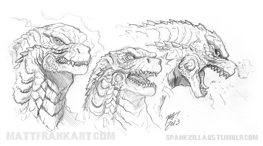 Drawn godzilla Time DeviantArt feeling with Godzilla