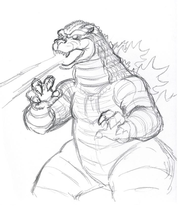 Drawn godzilla Drawing! Best with Godzilla! of