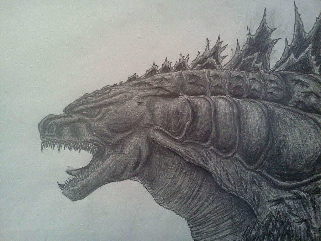 Drawn godzilla Deviant Art Art Godzilla 2014