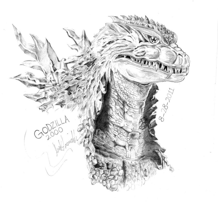 Drawn godzilla 2004 Godzilla DeviantArt LordGojira AmirKameron