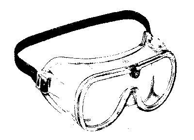 Drawn goggles SAFETY GOGGLES Equipment Instruments Supplies