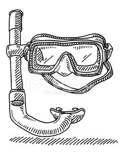 Drawn goggles bowl 2 Project Drawing Diving goggles