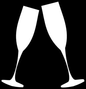 Champagne clipart black and white Glasses Art Glasses Clip Clipart