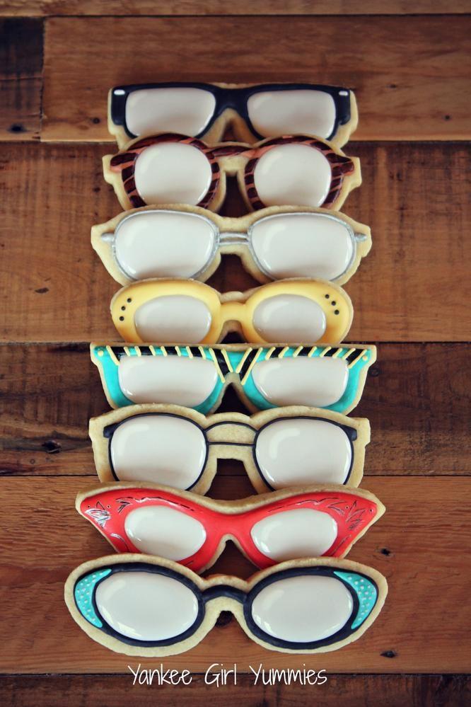 Drawn goggles cookie milk 777 Glasses! Cookies Cookie Pinterest