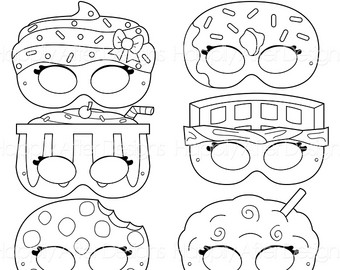 Drawn goggles cookie milk Donut Etsy Printable cookie Coloring