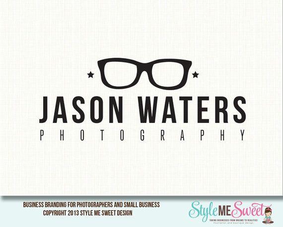 Drawn glasses Photography design premade on logo