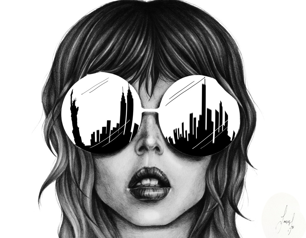 Drawn spectacles reflection #illustration by Fox NYC it
