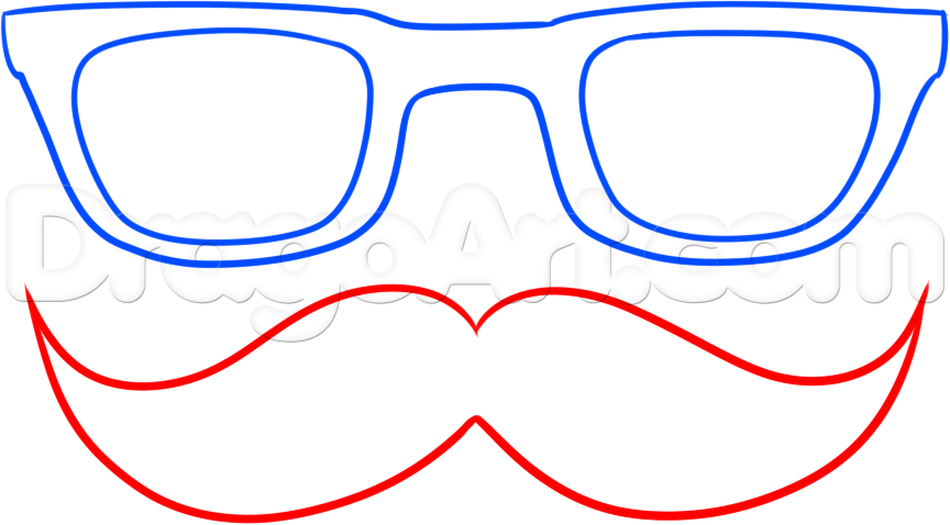 Drawn spectacles hipster Step by draw Step Fashion