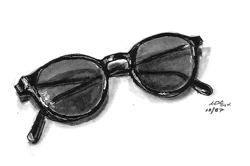 Drawn goggles pencil shading 11 or – Glasses Share