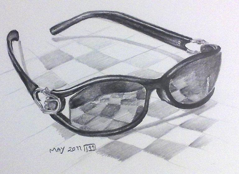 Drawn goggles pencil shading Drawing zeinab1361art drawing My sunglasses: