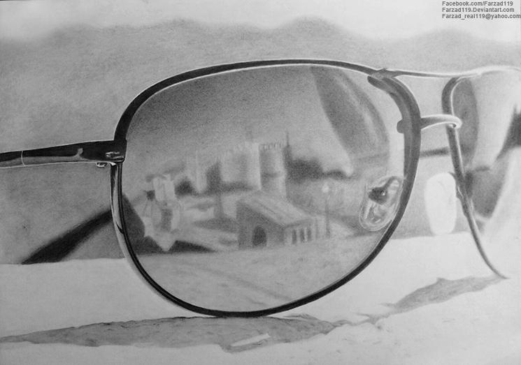 Drawn goggles pencil shading By Sunglasses farzad119 Ban DeviantArt