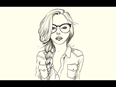 Drawn goggles pencil shading A How Girl Glasses Girl