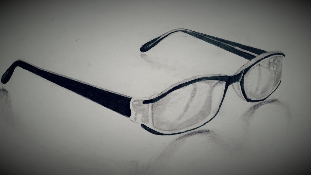 Drawn spectacles By DeviantArt by Glasses pencil