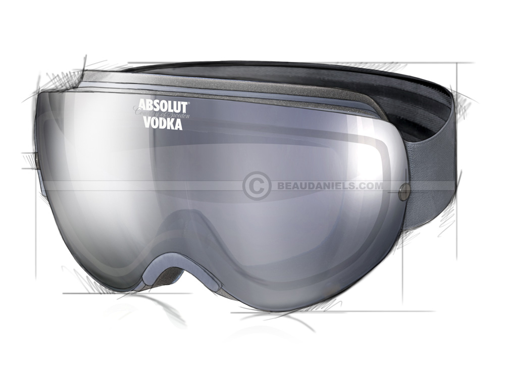 Drawn goggles realistic Marketing Absolut realistic through illustration