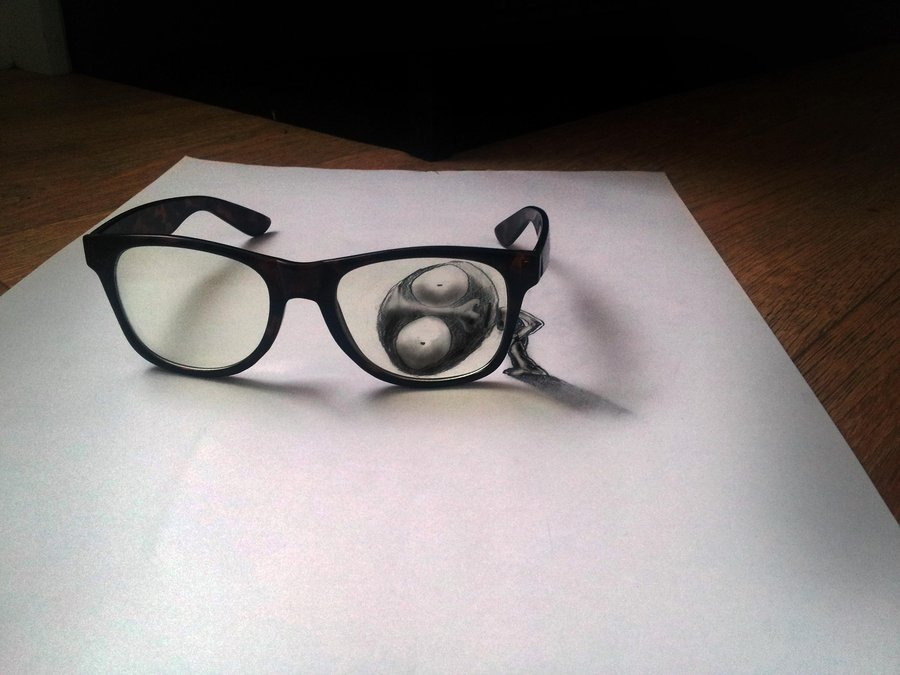 Drawn goggles realistic Illusion Hyper Ramon Realistic Drawings