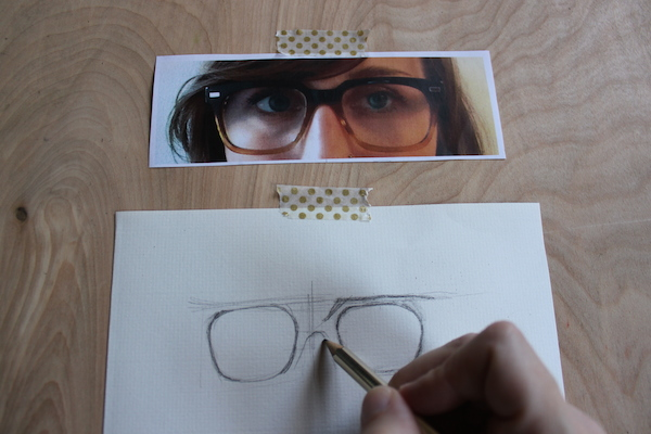 Drawn goggles realistic Glasses In Draw Face Eyeglasses