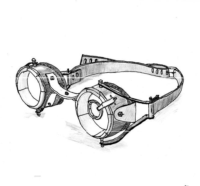 Drawn goggles Steampunk GurichiTheGlitch Goggles on GurichiTheGlitch