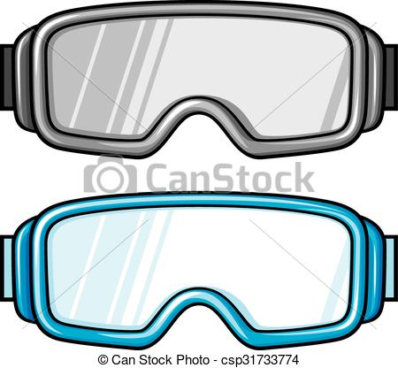 Spectacles clipart goggle Glasses) (winter glasses sport Vector