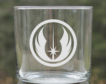 Drawn goggles whisky glass Whiskey jedi Star glasses wars