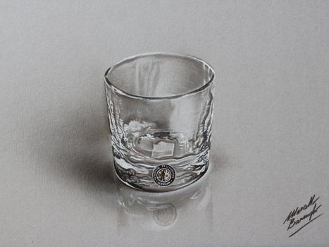 Drawn goggles whisky glass By 14 barenghi by Explore