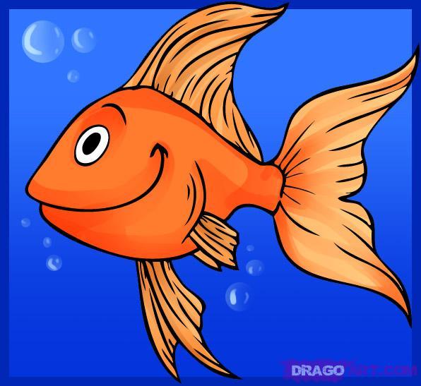 Drawn gold fish Photo#15 Goldfish goldfish Drawing Simple