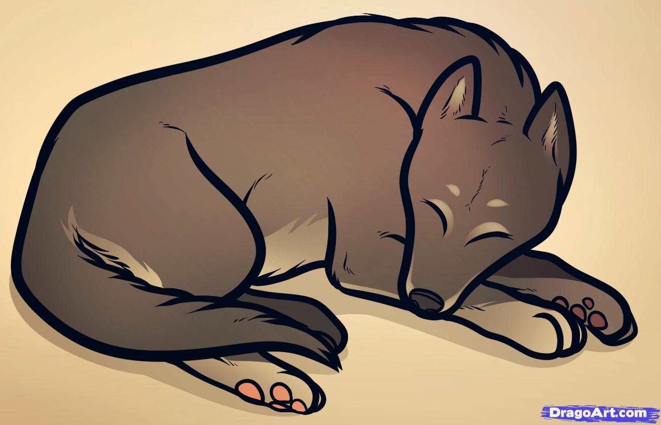 Drawn pug dragoart How Step a How Sleeping