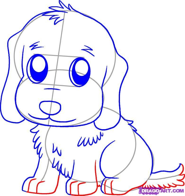 Drawn golden retriever happy thanksgiving Added Step step 5 Draw