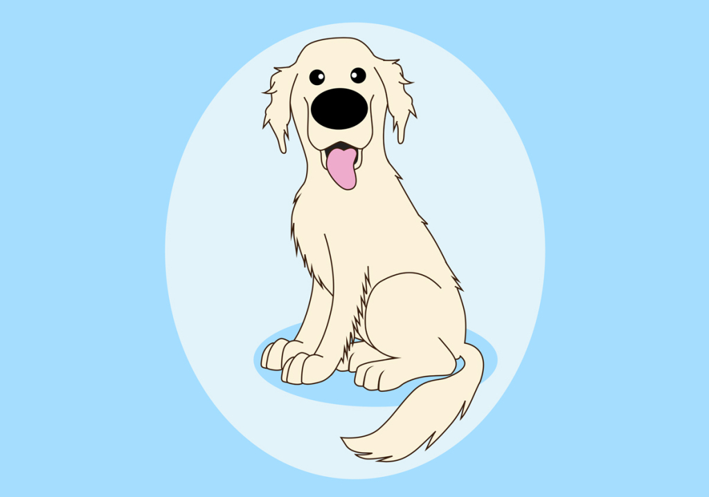 Drawn golden retriever happy thanksgiving But a I've her if