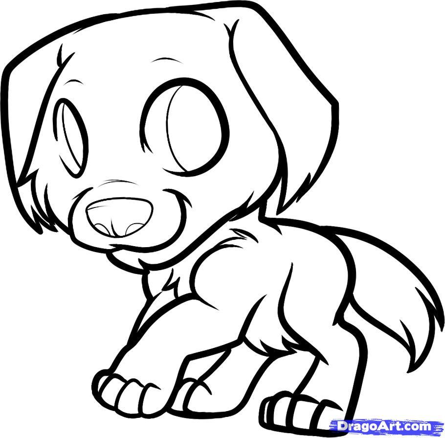 Drawn puppy dragoart By How Draw golden Step